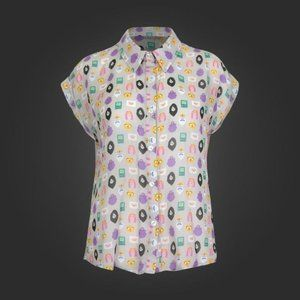Adventure Time Chiffon Blouse Shirt XS